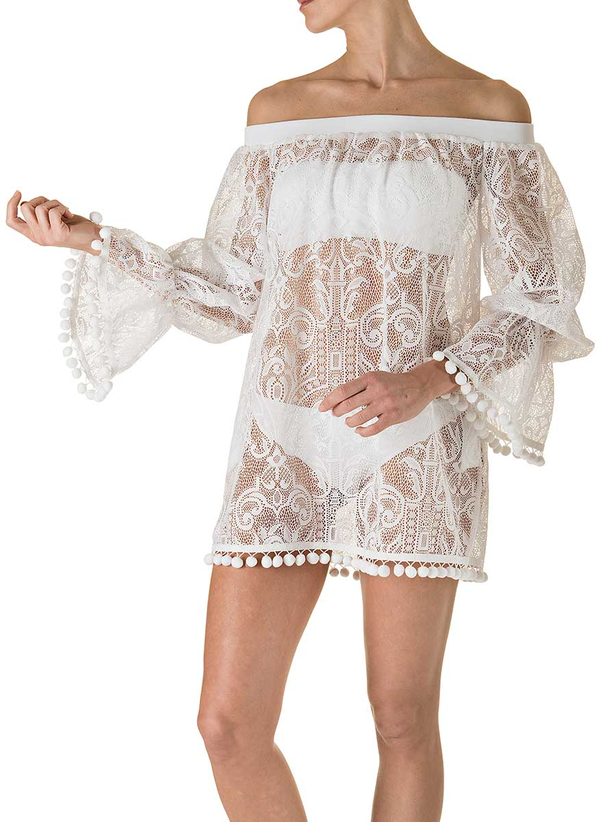OffShoulder Pizzo Bianco-0